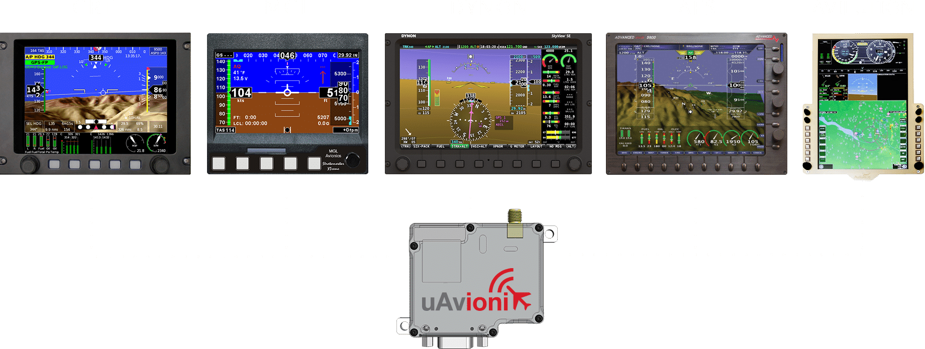 uAvionix echoESX Mode S Transponder works with all EFIS
